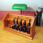 Bungalow style craftsman tobacco pipe rack