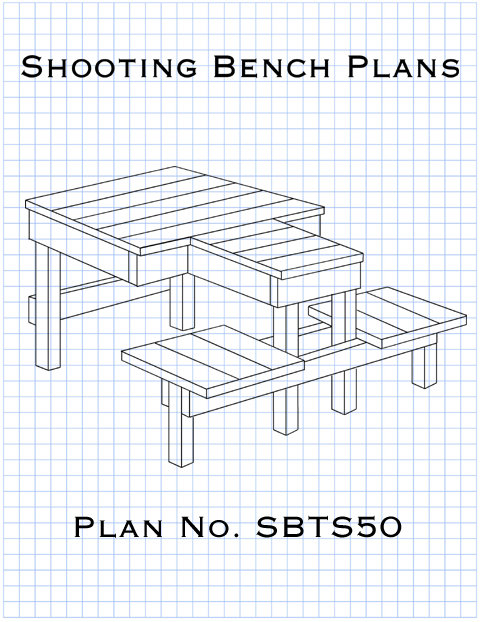 Shooting bench plans for both left and right-handed shooters