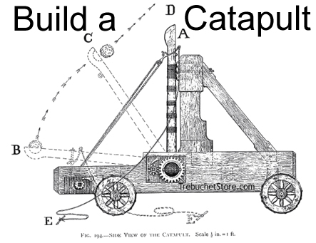 medieval catapult diagram